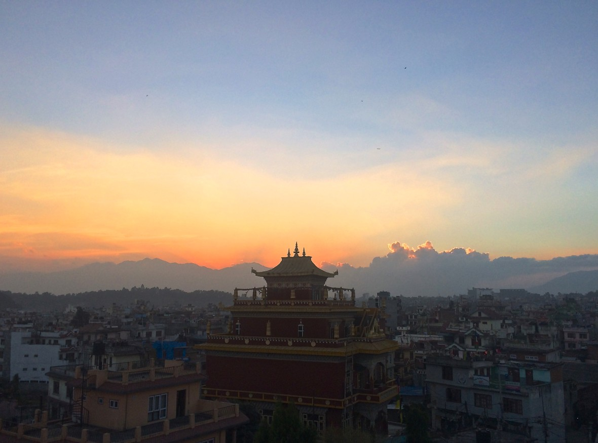 sunset in Nepal